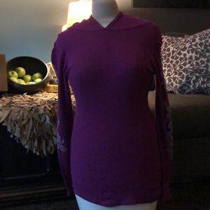 Large purple thermal stretch hoodie